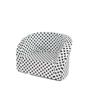 Armchair Smart, White With Black Crosses