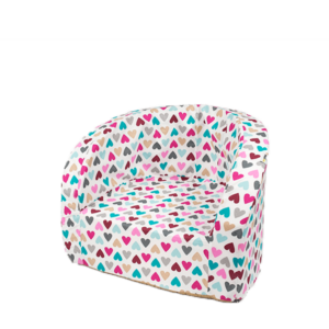 Armchair Smart, Colorful Hearts