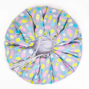 Playmat 2in1, Grey With Pink Pineapples